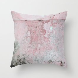 Coral Pink Background Texture Throw Pillow