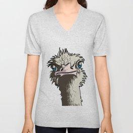 Grumpy Ostrich Unisex V-Neck