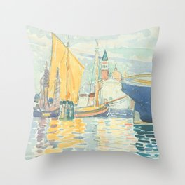 Venice The Giudecca by Henri-Edmond Cross 1903, French Throw Pillow