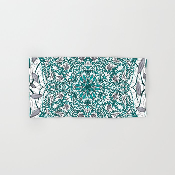 Woven Vines of Silver and Life Hand & Bath Towel