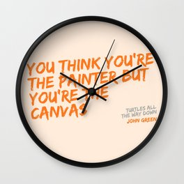Turtles All the Way Down quote Wall Clock
