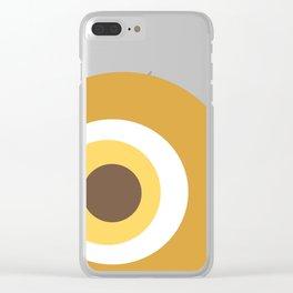 Yellow devil eye pattern Clear iPhone Case