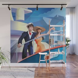 COUPLE ON YACHT Wall Mural
