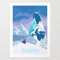 frozen Art Prints featuring Frozen by TheWonderlander