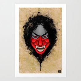 Hannya Girl! Art Print