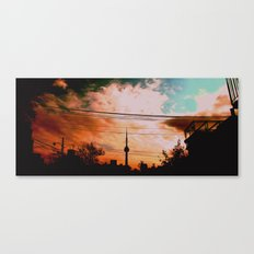 fire sky Canvas Print