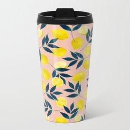 Lemony Goodness Metal Travel Mug