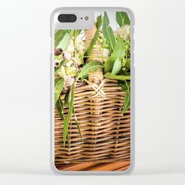 Gumblossom Basket Clear iPhone Case
