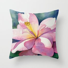 Camellia - Pretty in Pink Throw Pillow