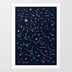 The Stars Art Print