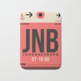 JNB Johannesburg Luggage Tag 2 Bath Mat