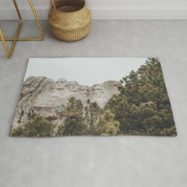 mt rushmore - nuetral colors Rug