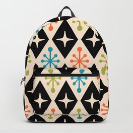 Mid Century Modern Atomic Triangle Pattern 922 Backpack