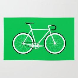 Green Fixed Gear Road Bike Rug