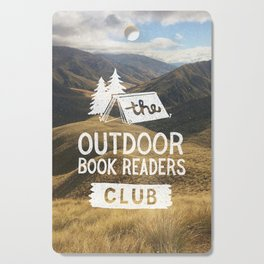 The Outdoor Book Readers Club Cutting Board