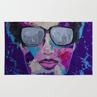 sunglasses Area & Throw Rugs featuring Sunglasses by Wendistry