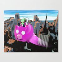 invader zim Canvas Prints featuring Invader Zim by inusualstuff