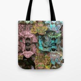 Surreal Floral Intricate Visionary Print Tote Bag