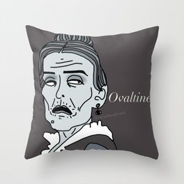 Female Trouble Series: Frau Blücher from Young Frankenstein Throw Pillow