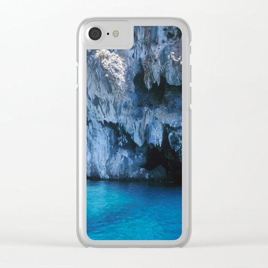 NATURE'S WONDER #3 - BLUE GROTTO #art #society6 Clear iPhone Case