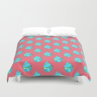 cupcake Duvet Covers featuring Cupcake by tiffato3