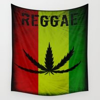 reggae Wall Tapestries featuring REGGAE by shannon's art space