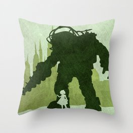 Bioshock: minimalist Throw Pillow