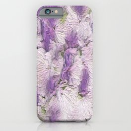 Purple - Lavender Fluffy Floral Abstract iPhone Case