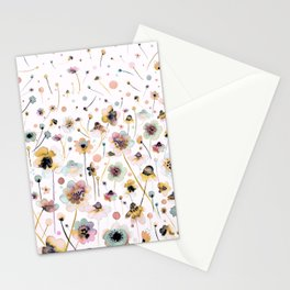 Wild flowers sunshine gold Stationery Cards