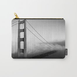 Golden Gate Bridge | Black and White San Francisco Landmark Photography Shot From Marin Headlands Carry-All Pouch