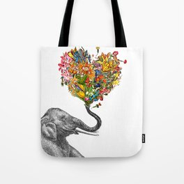 Happy Elephant  Tote Bag
