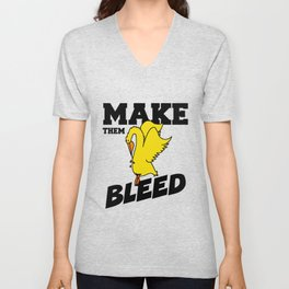 Make Them Bleed, Corpus Christi College Oxford Full Colour  Unisex V-Neck