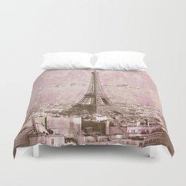 romantic Paris Duvet Cover