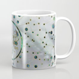 Taurus Zodiac Gold Abalone on Constellation Coffee Mug