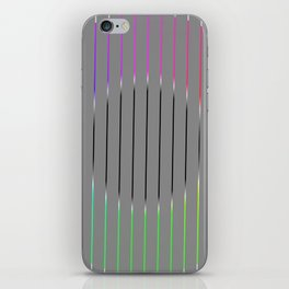 Minimalistic circle with colored lines iPhone Skin