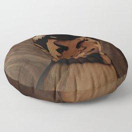 Original Leonard Nimoy (mr. Spock) on enterprise series of wood by Andulino Floor Pillow