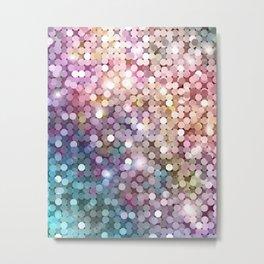 Rainbow glitter texture Metal Print