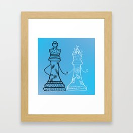 Chess King Qeen Framed Art Print
