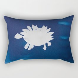 Cyano-stegosaurus Rectangular Pillow