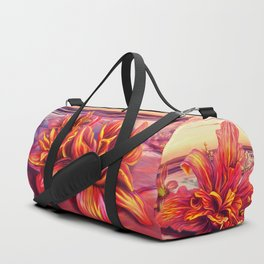 Radioactive flowers Duffle Bag