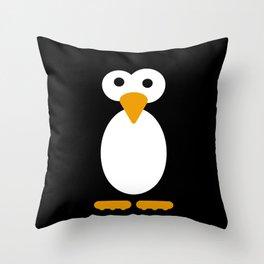 Minimal Penguin Throw Pillow