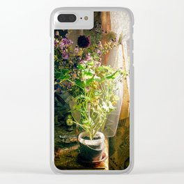 Vintage Classic Flower Still Life Clear iPhone Case