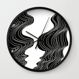 Parallel Lines No.: 02. - White Lines Wall Clock
