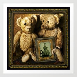 Dear Old Teddy Bears Art Print
