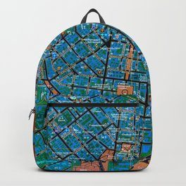 Odessa antique map, colorful mas, classic artwork Backpack