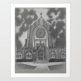 All Saints Chapel Sewanee Art Print