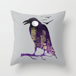 Night Heist Throw Pillow