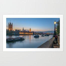 Westminster after sunset Art Print