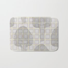 artichokes on a checkered background Bath Mat