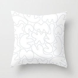 Blob Collage - Line Throw Pillow